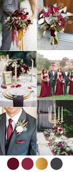 wedding colors six beautiful burgundy wedding colors in shades of gold stylish