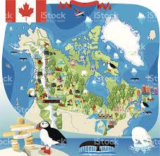 cartoon map of canada stock vector art 159523795 istock