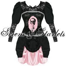ladies new gothic burlesque skeleton halloween fancy dress