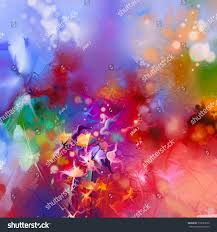 abstract colorful oil painting on canvas stock illustration