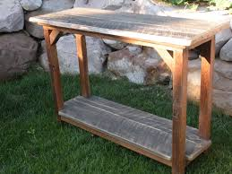 Wood Entry Table Reclaimed Barn Wood Sofa Entry Table Photo 2 Reclaimed Flickr
