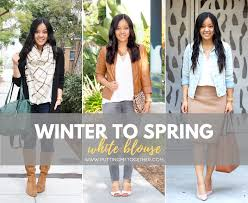 style blouse how to style an item in winter and white blouse