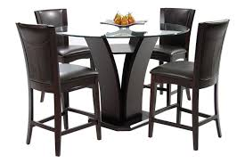 Circle Glass Table And Chairs Daisy Counter Height Dining Set 710 By Homelegance Home Elegance Usa
