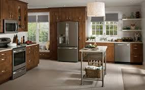 white cabinet black appliances luxury home design