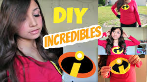 incredibles halloween costumes family last minute diy incredibles costume makeup and hair youtube