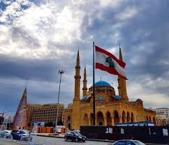 Lebanon Flag Tree Cloudy Monday N Beirut Christmastree Flag Lebaneseflag