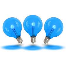 Led Blue Light Bulb by Blue Led G40 Glass Globe Light Bulbs Novelty Lights
