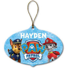 paw patrol ornament personalized marshall and