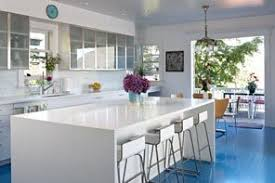 Kitchen With Only Lower Cabinets Architect Marcie Mchale Anchors Her Contemporary Kitchen In A Sea