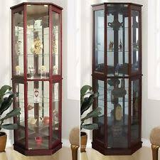 Curio Cabinets Under 200 Lighted Curio Cabinet Ebay