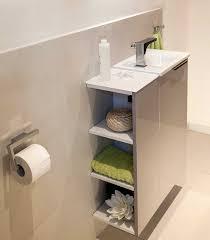 Schmales Regal Bad Schmales Waschbecken Mit Unterschrank Im Gäste Wc