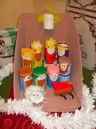 homemade nativity set from toilet rolls christmas pinterest