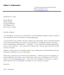 application cover letter examples example of cover letter with