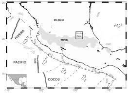 Southern Mexico Map by A Shallow Crustal Earthquake Doublet From The Trans Mexican