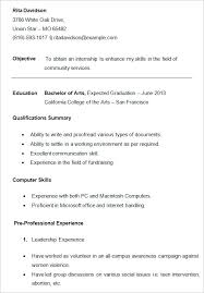 Student Resumes Student Resumes Templates 10 College Resume Templates Free Samples