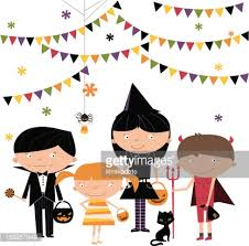 Halloween Character Cartoon Royalty Free Vector Image 49 962 by Trick Or Treat Kids Vector Art Getty Images