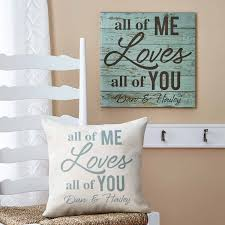 personalized canvas wall art walmart com personalized all of me loves all of you canvas