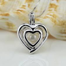 pearl pendant necklace wholesale images Wholesale double heart 925 sterling silver locket pendant necklace jpg