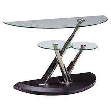 half moon table target modesto metal and glass half moon sofa table synthetic black