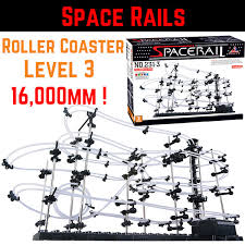 spacerails space rail mini marble roller coaster with steel level 3 game 16 000mm rail