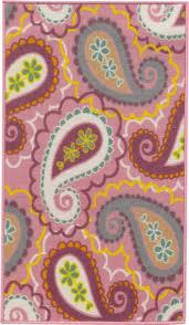 Girls Area Rugs Oriental Weavers Serendipity 45970 Pink And Purple Paisley Girls