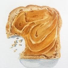toast painting enjoying it a lot peanutbutter toastpainting
