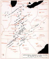 Ohio Valley Map by 1974 Super Outbreak Wikipedia