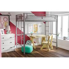 Metal Loft Bed With Desk Assembly Instructions Yourzone Metal Twin Loft Bed Multiple Colors Walmart Com