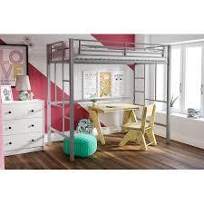 Kid Loft Beds Yourzone Metal Twin Loft Bed Multiple Colors Walmart Com