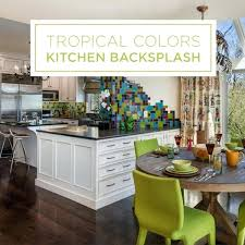 backsplash for yellow kitchen colorful kitchen backsplash tropical kitchen yellow kitchen