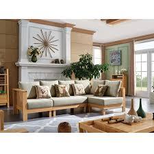canapé d angle en bois tissu salon meubles maison le meilleur site