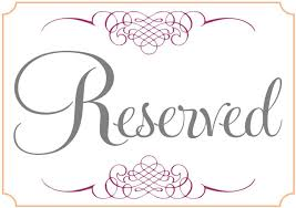 reserved signs for wedding tables reservation sign template gidiye redformapolitica co