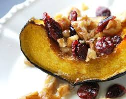 roasted acorn squash recipe with walnuts and cranberries