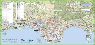 map of montreux montreux tourist map