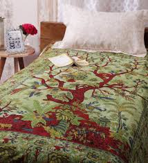 Cotton Single Bed Sheets Online India Online Shopping India Online Home Furnishing Purchse In India
