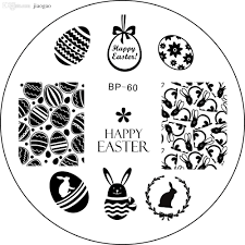 wholesale easter bunny egg nail art stamping template image plate