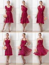 stylish a line tea length convertible bridesmaid dress 11292000