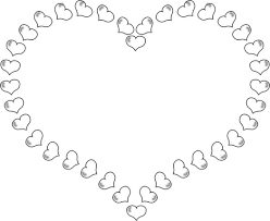 and roses coloring pages heart shaped border little hearts 100245