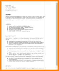Resume For Customer Service Specialist 11 Collections Specialist Resume Job Apply Form