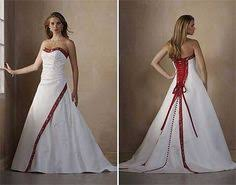 Red And White Wedding Dresses Details About Custom Made Wedding Dress Bridal Gown Discount