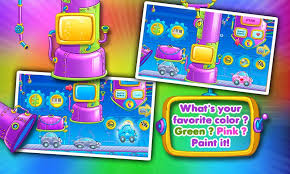 rainbow cars kids colors game android apps google play