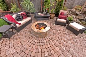 Round Brick Fire Pit Design - wonderful 5 patio with pergola and firepit design on circular