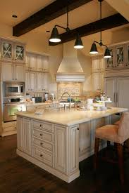 cute french country kitchen style featuring brown color wooden