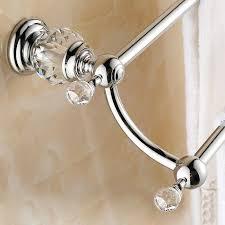 modern clear crystal bathroom accessories sets silver polished