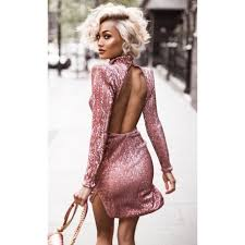 sequin dress sleeve high necked shoulder pads sequin dress stella dolls
