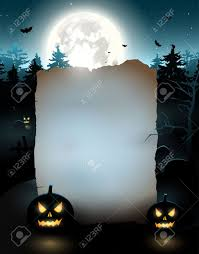 halloween night background halloween poster with old empty paper royalty free cliparts