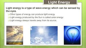 what type of energy is light 23 p 10 1 forms of energy ppt 1 1
