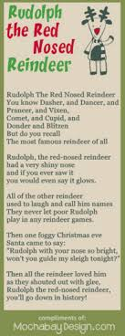 free printable christmas song lyric games rudolph the red nosed reindeer christmas song lyrics bookmark