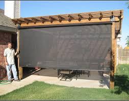 blind grey rectangle contemporary fabric outdoor patio shades