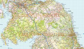Newcastle England Map by Vector Scotland Map Regions Political Road U0026 Rail 500 000